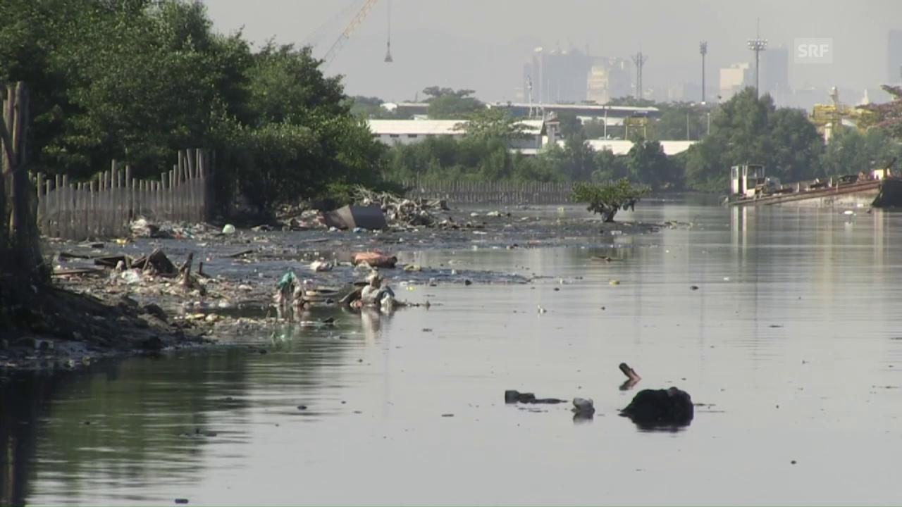 Verschmutztes Wasser in Rio