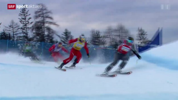 Video «Skicross: Weltcup in Innichen, Männer» abspielen