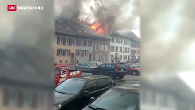 Feuer in Cudrefin