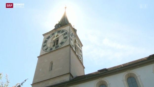 Video «Blitzeinschlag in Stadtzürcher Kirche» abspielen