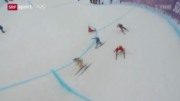 Video «Skicross: Keine Medaillen für die Schweiz» abspielen