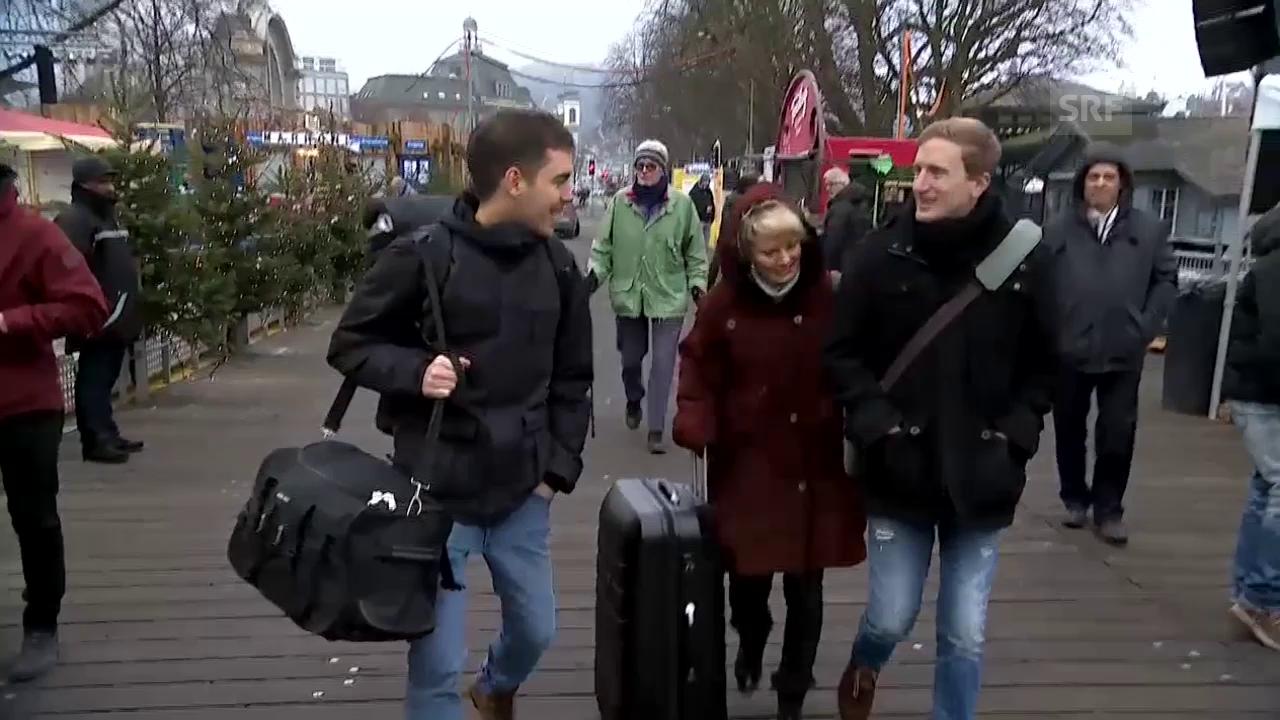 Rosanna, Fabio und Büssi ziehen in die Glasbox ein