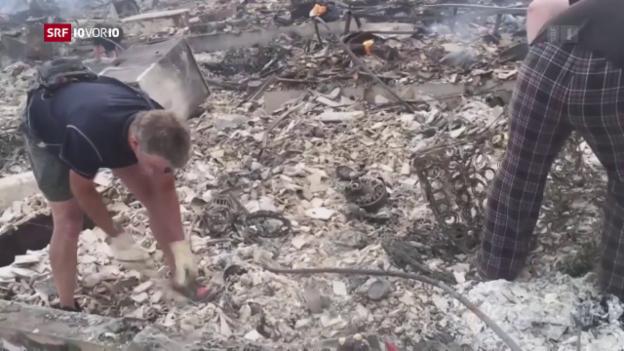 Video «Mindestens 21 Tote nach Bränden in Kalifornien» abspielen