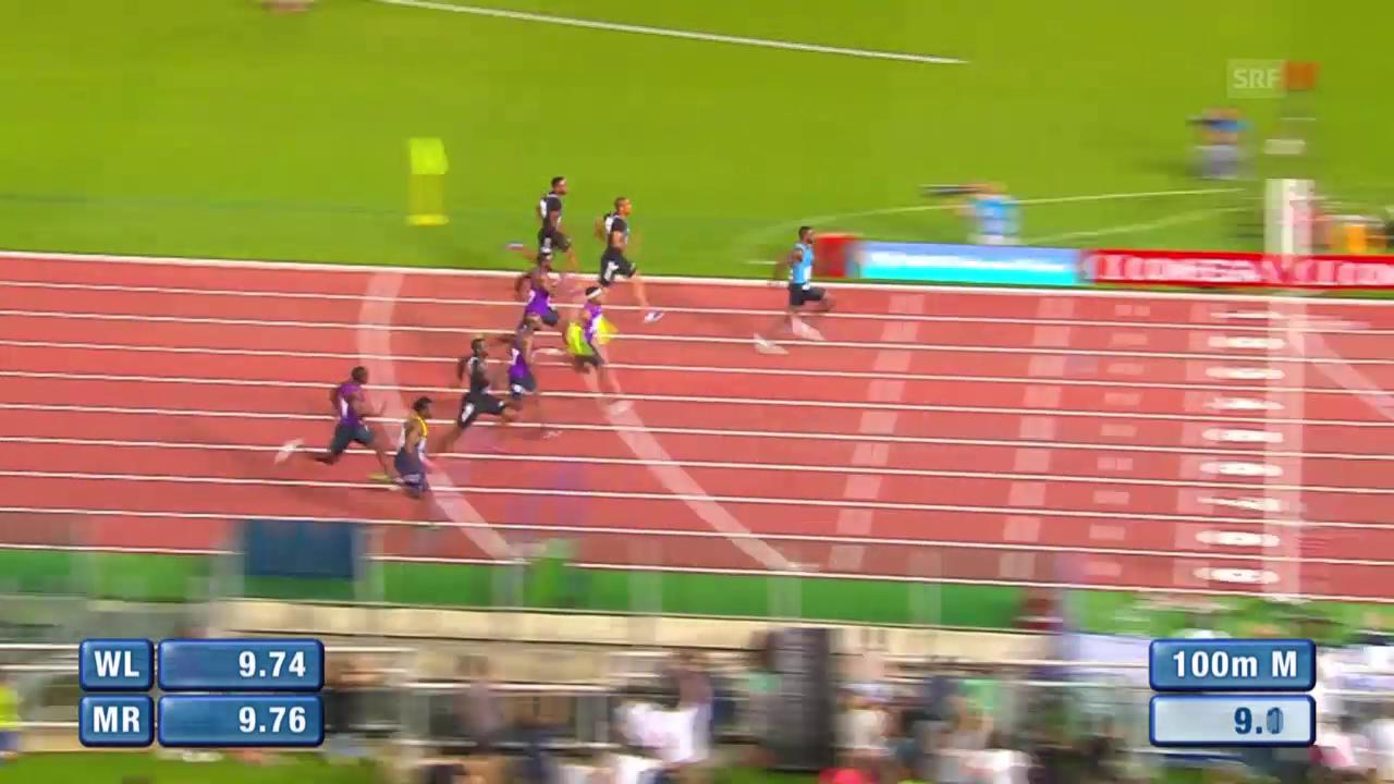 Leichtathletik: Diamond League Meeting Rom, 100 Männer, Sieg Gatlin