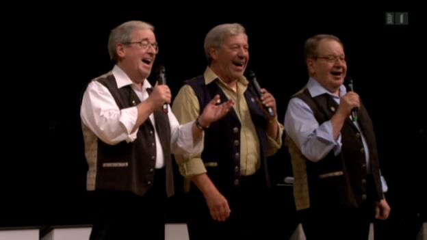 Video «Trio Eugster: Abschied mit Tränen» abspielen