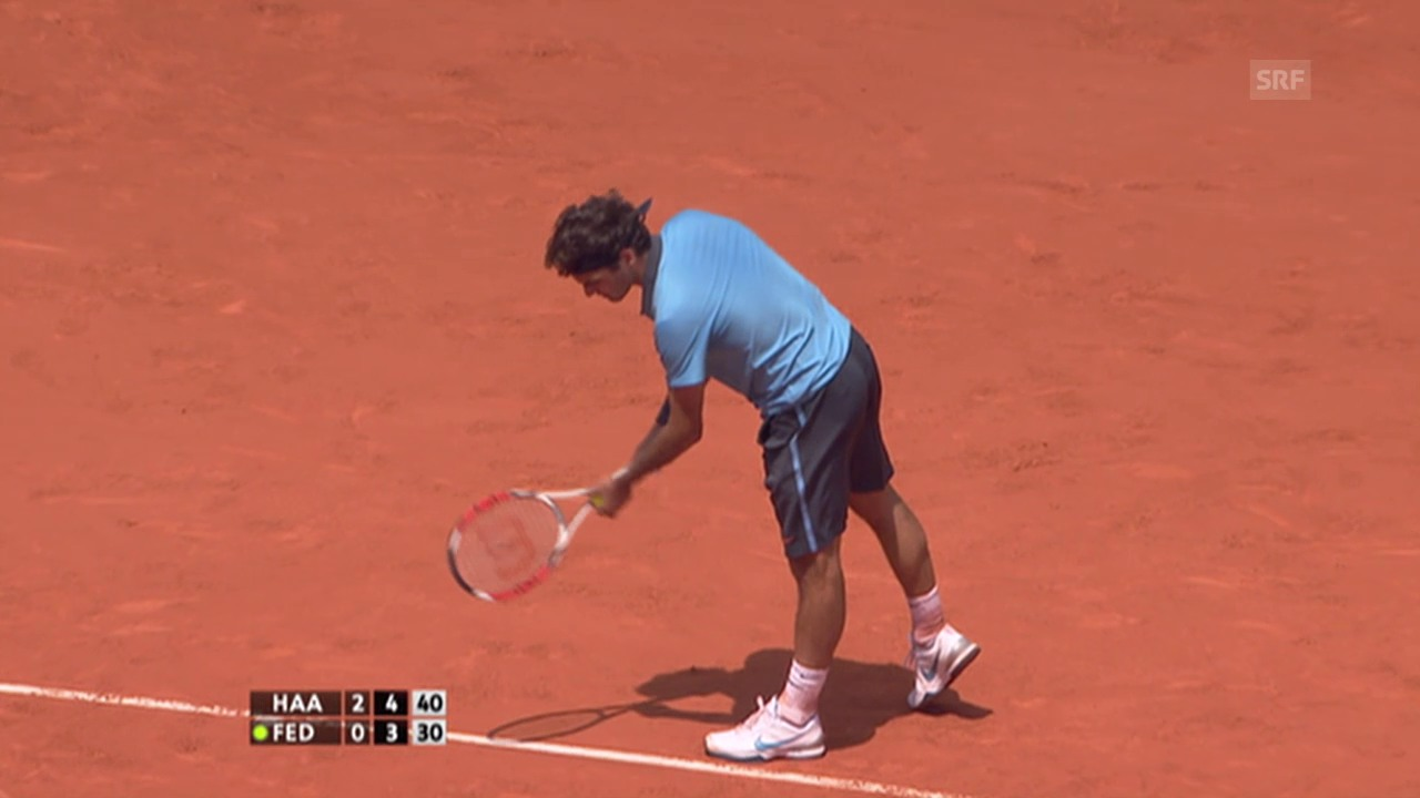 Tennis: French-Open-Serie, Federer-Haas 2009