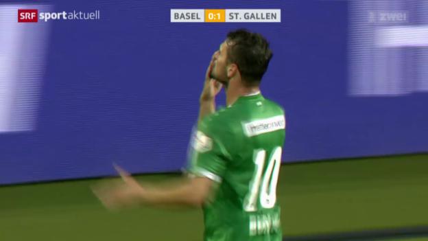 Video «Fussball: Basel unterliegt St. Gallen» abspielen