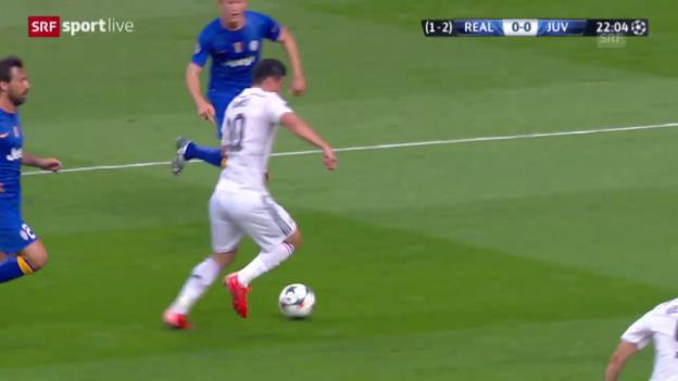 Video «Fussball: Champions League 2015, Halbfinal Real Madrid – Juventus, Highlights 1. Halbzeit» abspielen