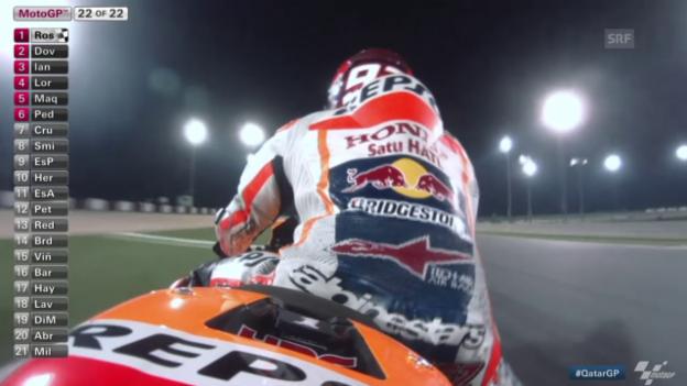Video «Motorrad: GP Katar, MotoGP Zieleinfahrt» abspielen