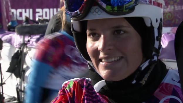 Video «Snowboard: Parallel-Slalom, Interview mit Stefanie Müller (sotschi direkt, 22.2.2014)» abspielen