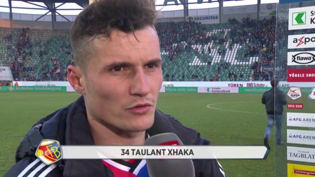 Video «Fussball: Super League, St. Gallen - Basel, Interview Xhaka» abspielen