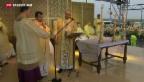 Video «Tropensturm stoppt Papstbesuch» abspielen