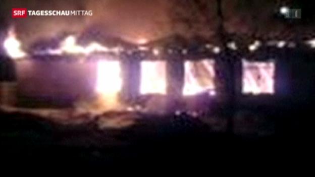 Video «Feuer-Katastrophe in Psychiatrie» abspielen