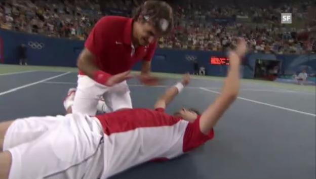 Video «Federer/Wawrinka - Zu zweit zum Olympia-Gold» abspielen