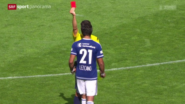 Video «Fussball: Super League, Ausraster von Dario Lezcano» abspielen