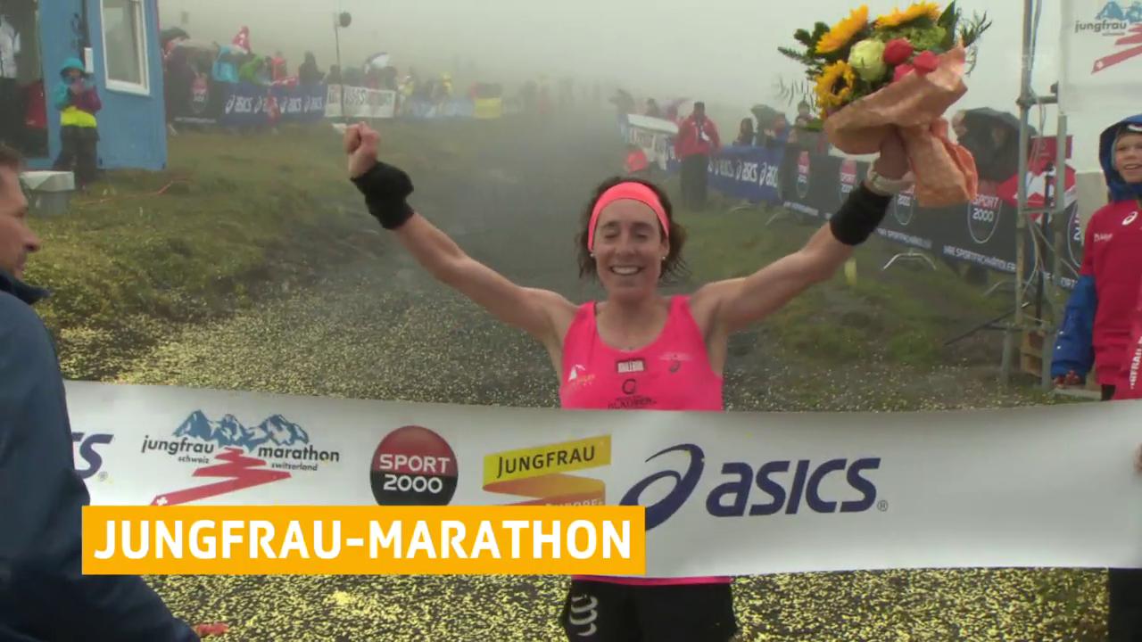 Mathys läuft am Jungfrau-Marathon Streckenrekord