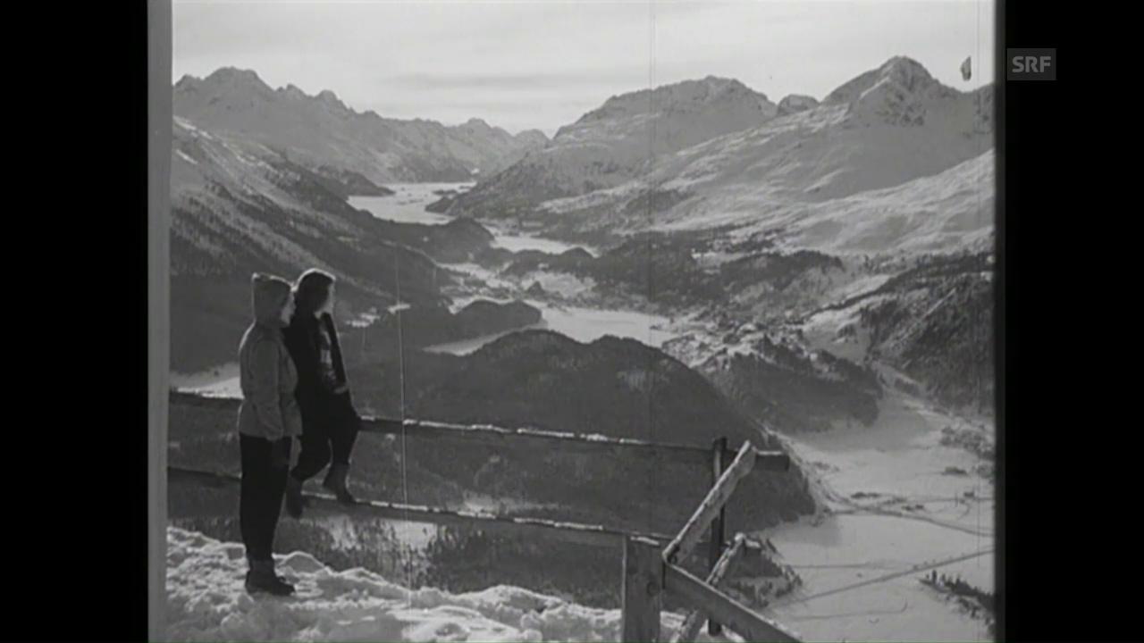 Prominenz beim Wintersport (SFW vom 12.1.1951)