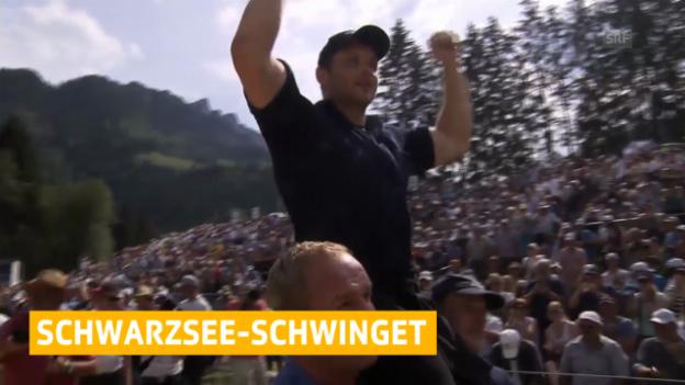 Video «Schwingen: Bergkranzfest Schwarzsee» abspielen