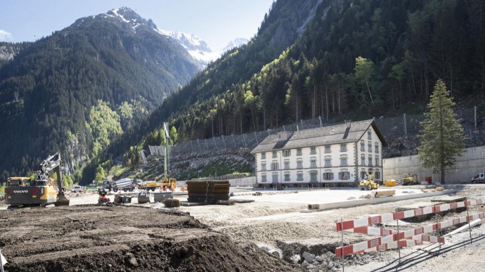 Göschenen sieht neue Gotthard-Grossbaustelle als Chance