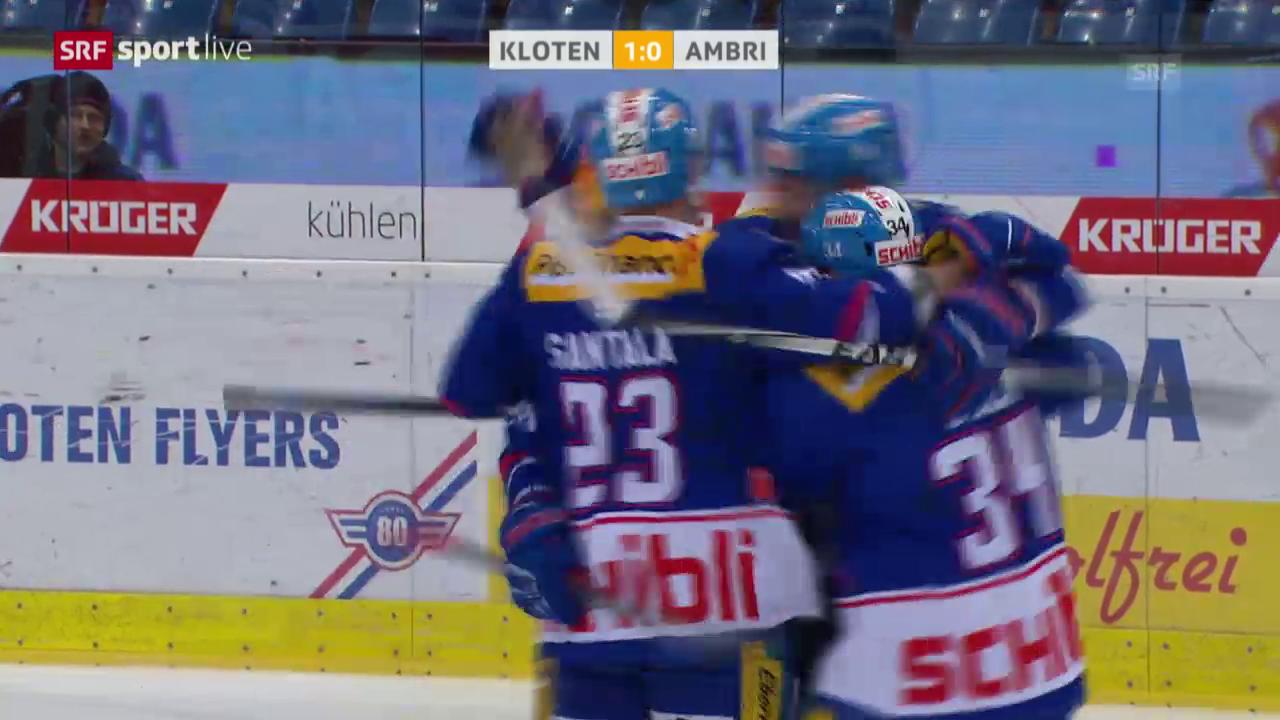 Eishockey: NLA, Platzierungsrunde, 4. Runde, Kloten - Ambri