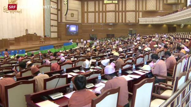 Video «Myanmars Parlament tagt» abspielen