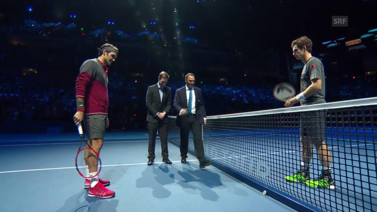 Tennis: ATP Finals, Federer-Murray, Münzwurf