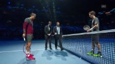 Video «Tennis: ATP Finals, Federer-Murray, Münzwurf» abspielen
