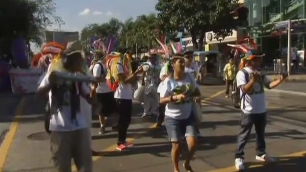 Video ««Dance, strike, rise»: Protest auf den Philippinen (unkommentiert)» abspielen
