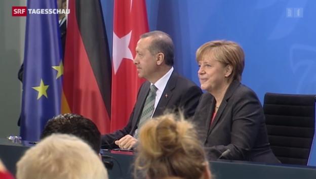 Video «Erdogan auf Besuch in Deutschland» abspielen