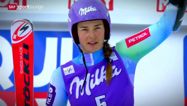 Video «Skistar, Sängerin: Die Gesichter von Tina Maze» abspielen