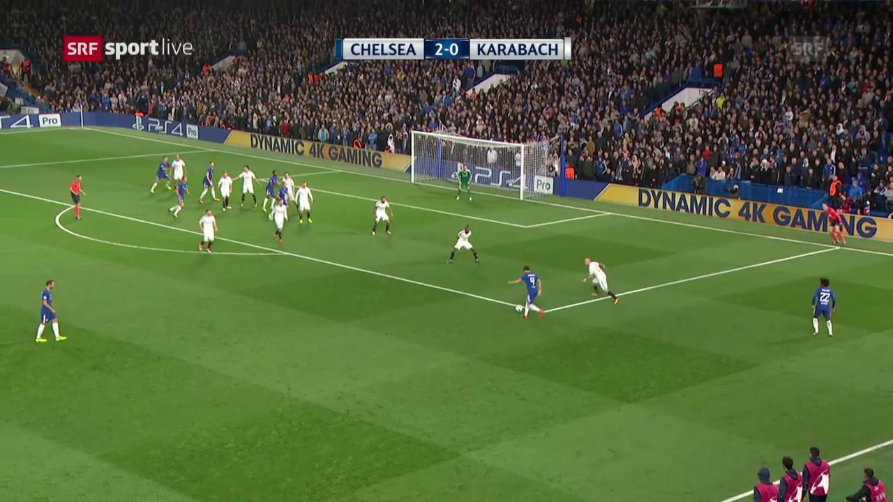 Chelsea schickt Karabach mit einer Packung heim