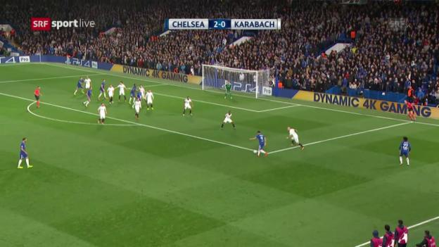 Video «Chelsea schickt Karabach mit einer Packung heim» abspielen