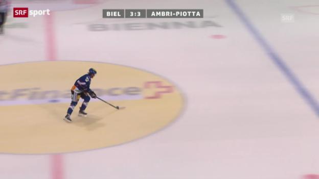 Video «Eishockey: Biel - Ambri» abspielen