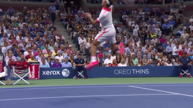 Video «Federers Galavorstellung gegen Darcis» abspielen