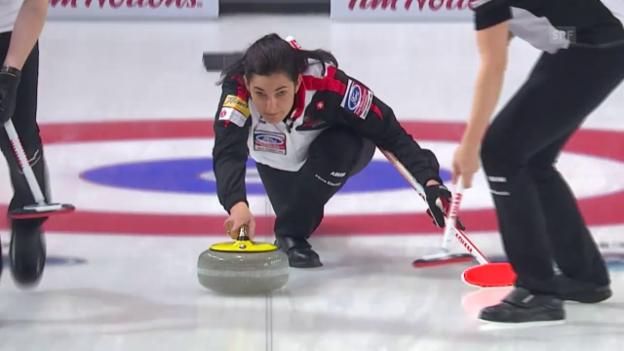 Video «Curling-WM: Die Schweiz im 6. Spiel» abspielen