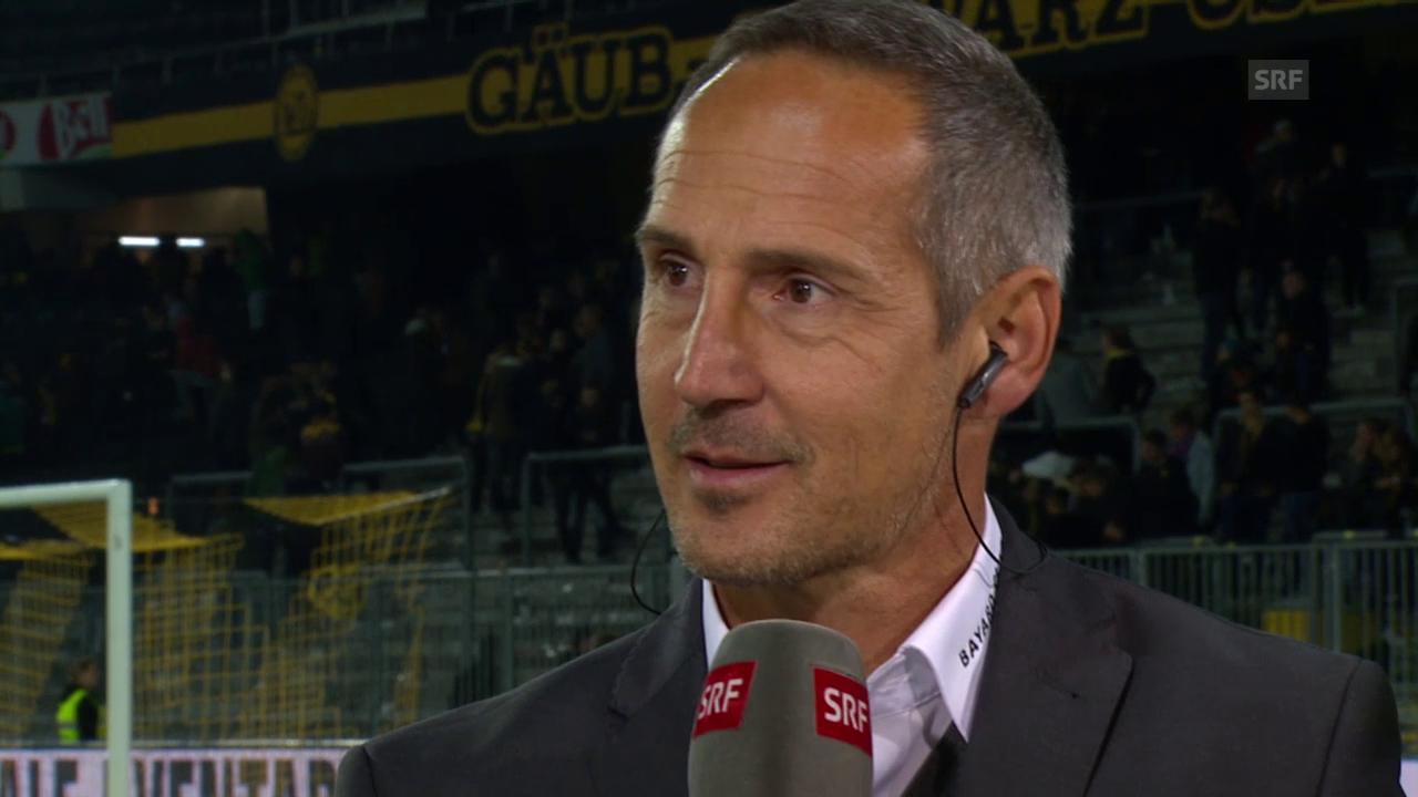 Fussball: Super League, YB - Basel, Gespräch Hütter