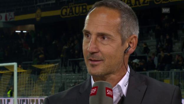Video «Fussball: Super League, YB - Basel, Gespräch Hütter» abspielen