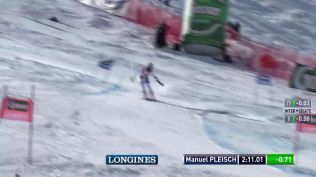Video «Ski alpin: Riesenslalom in Sölden, 2. Lauf von Manuel Pleisch» abspielen