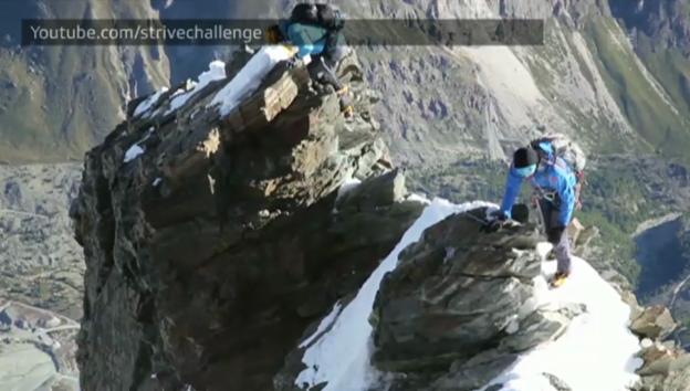 Video «Video-Ausschnitt aus der Matterhorn-Besteigung (unkomm.)» abspielen