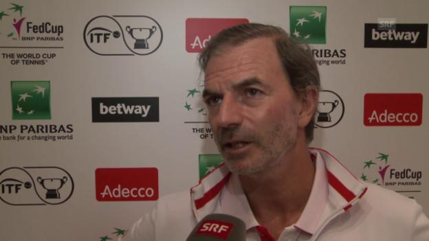 Video «Heinz Günthardt zum 1. Tag im Fed-Cup-Duell» abspielen