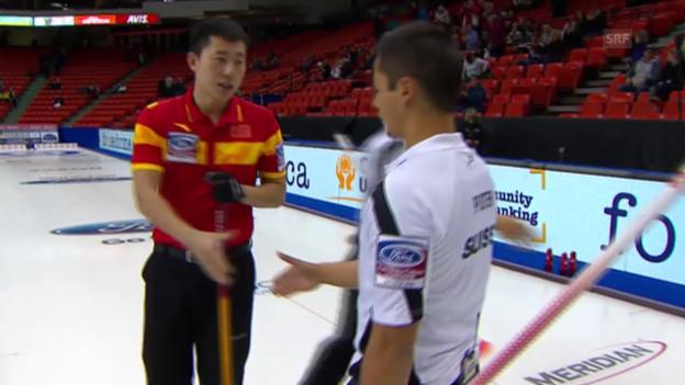 Video «Curling: WM Männer in Halifax, Round Robin, Schweiz - China» abspielen