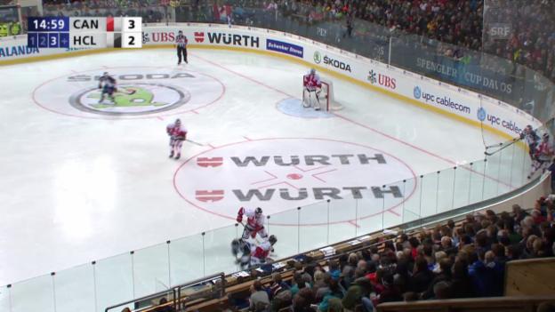 Video «Eishockey: Spengler Cup, Team Canada - Lugano, 3:3 durch Hofmann» abspielen