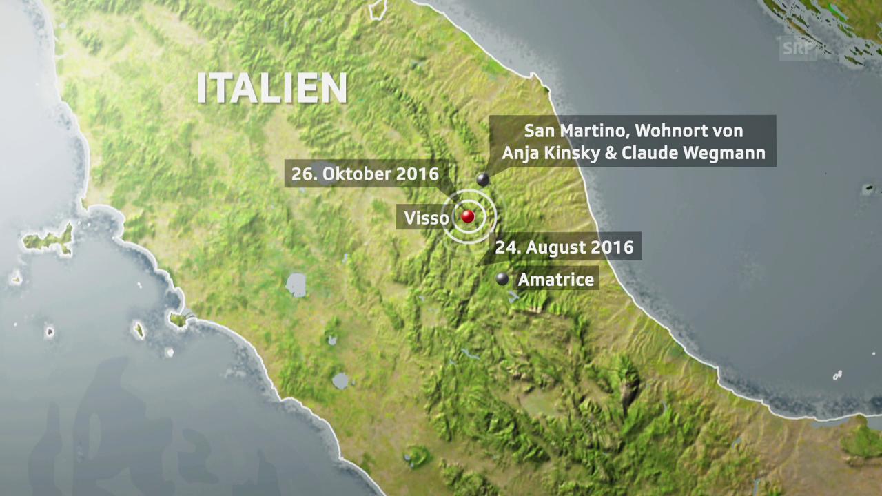 Die Erdbeben in Mittelitalien