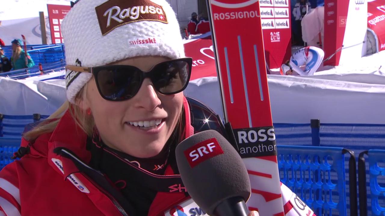 Ski: WM 2015 Vail/Beaver Creek, Abfahrt Frauen, Lara Gut im Interview