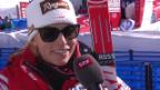 Video «Ski: WM 2015 Vail/Beaver Creek, Abfahrt Frauen, Lara Gut im Interview» abspielen