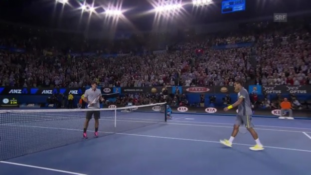 Video «Tennis: Highlights Federer - Tsonga («sportlive»)» abspielen