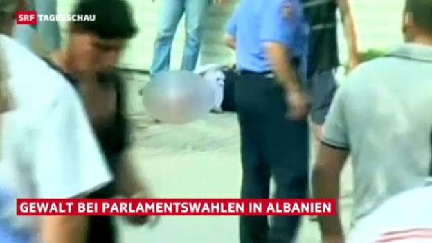 Video «Gewalt bei Parlamentswahlen in Albanien» abspielen