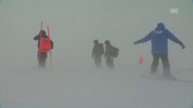 Video «Heftige Winde verhindern Trainings in St. Moritz» abspielen