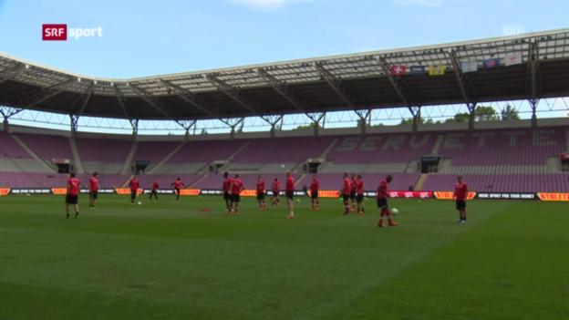 Video «Die Schweiz vor der Partie gegen Zypern («sportaktuell»)» abspielen