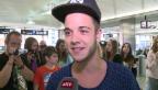 Video «Teenie-Schwarm: Luca Hänni kehrt aus Los Angeles zurück» abspielen